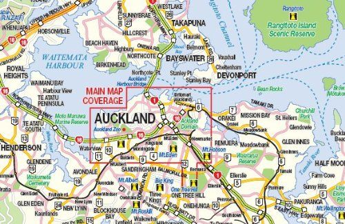 Travel Map New Zealand.New Zealand North Island Auckland City Map Itm